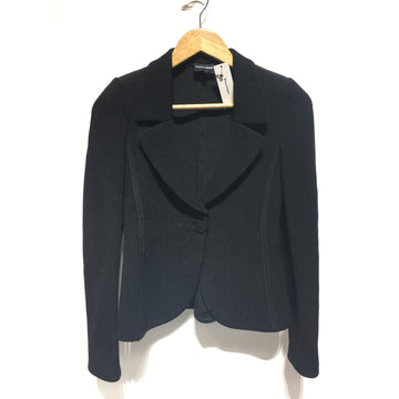 GIORGIO ARMANI/36/Jacket/BLK/Cotton/Plain