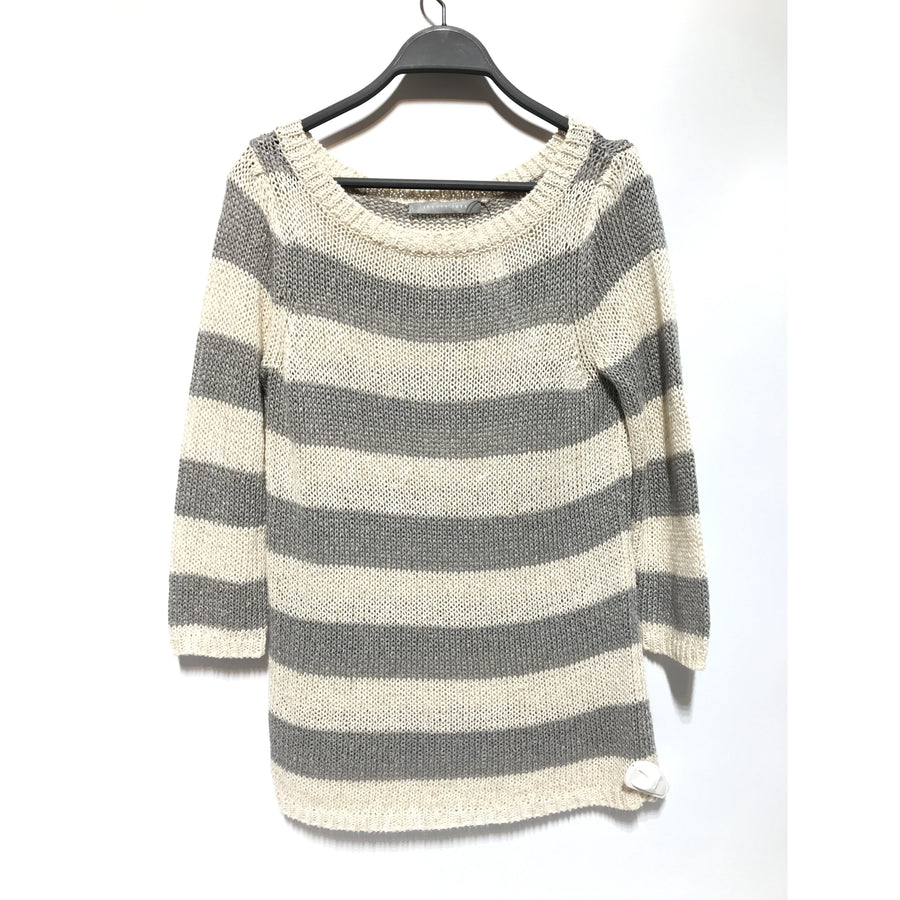 theory luxe/Sweater/38/Linen/GRY/Stripes