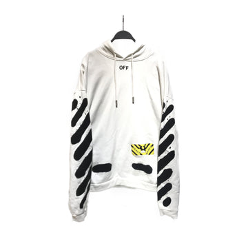 OFF-WHITE//Hoodie/L/WHT/Cotton/Graphic