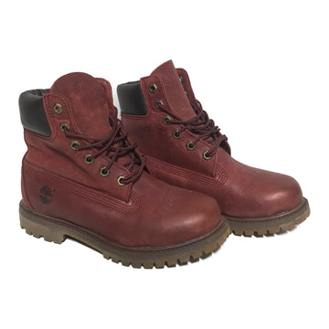 Timberland//Hi-Sneakers/6/RED/Leather/Plain