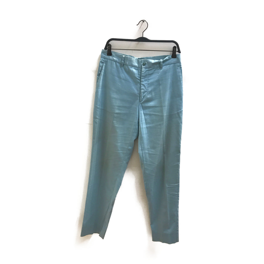 MIU MIU//Straight Pants/F/BLU/Cotton/Plain