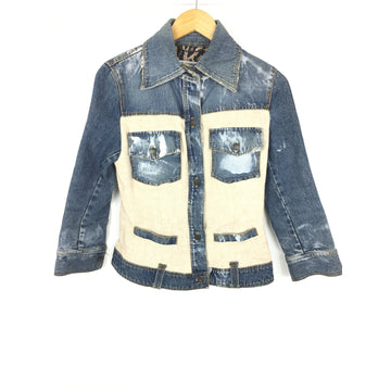 DOLCE&GABBANA/40/Denim Jkt/NVY/Cotton/Plain