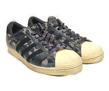 Adidas Originals/SUPERSTAR 80S UNDFTD BAPE/Low-Sneakers/10.5/MLT/Others/Camouflage