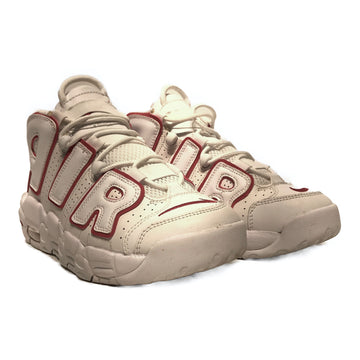 NIKE/AIR MORE UPTEMPO WHITE VARSITY RED/Low-Sneakers/5.5Y/WHT/Leather/Plain