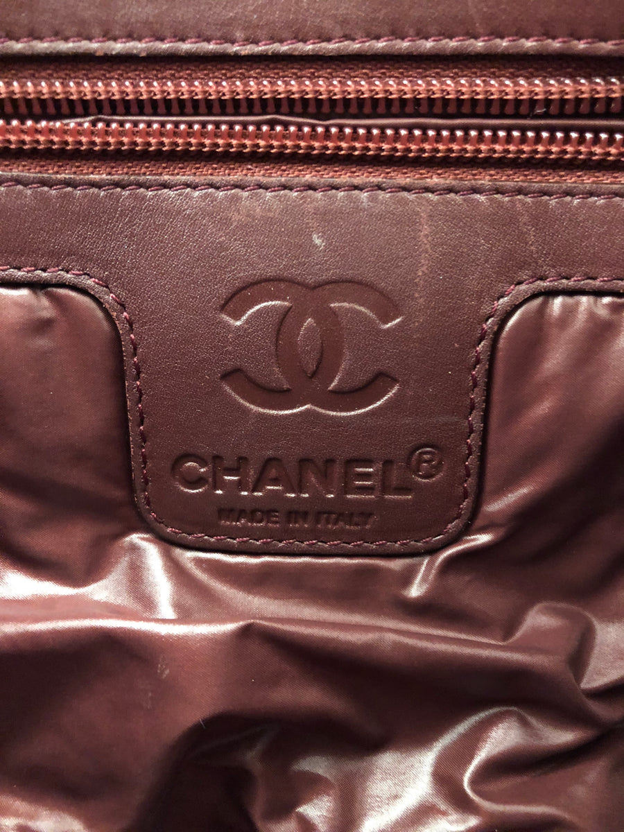 CHANEL/Cross Body Bag/Matelasse/nylon/BLK