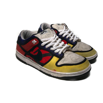 NIKE SB/PIET PAINT/Low-Sneakers/US11.5/MLT/Cotton/Plain