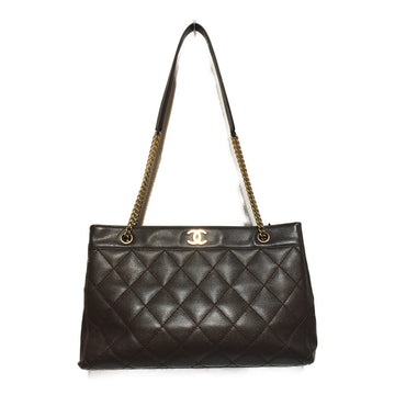 CHANEL/CAVIAR/Bag/./BRW/Leather/Plain