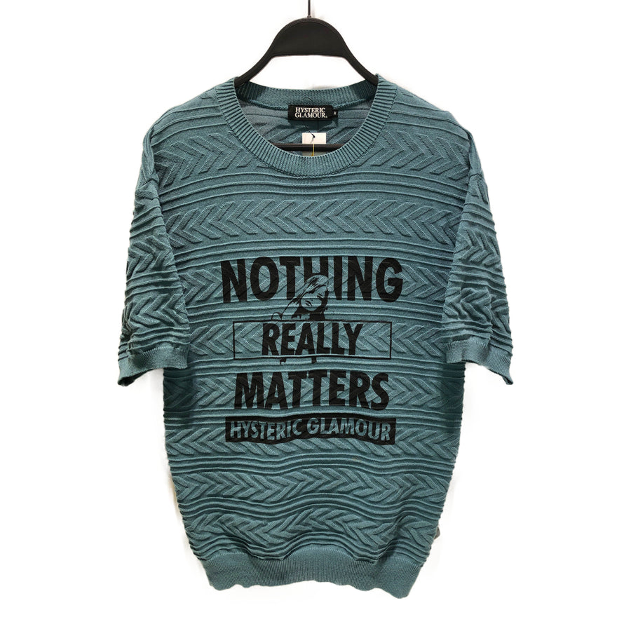 HYSTERIC GLAMOUR/NOTHING REALLY MATTERS/Sweater/M/Cotton/02192NS03