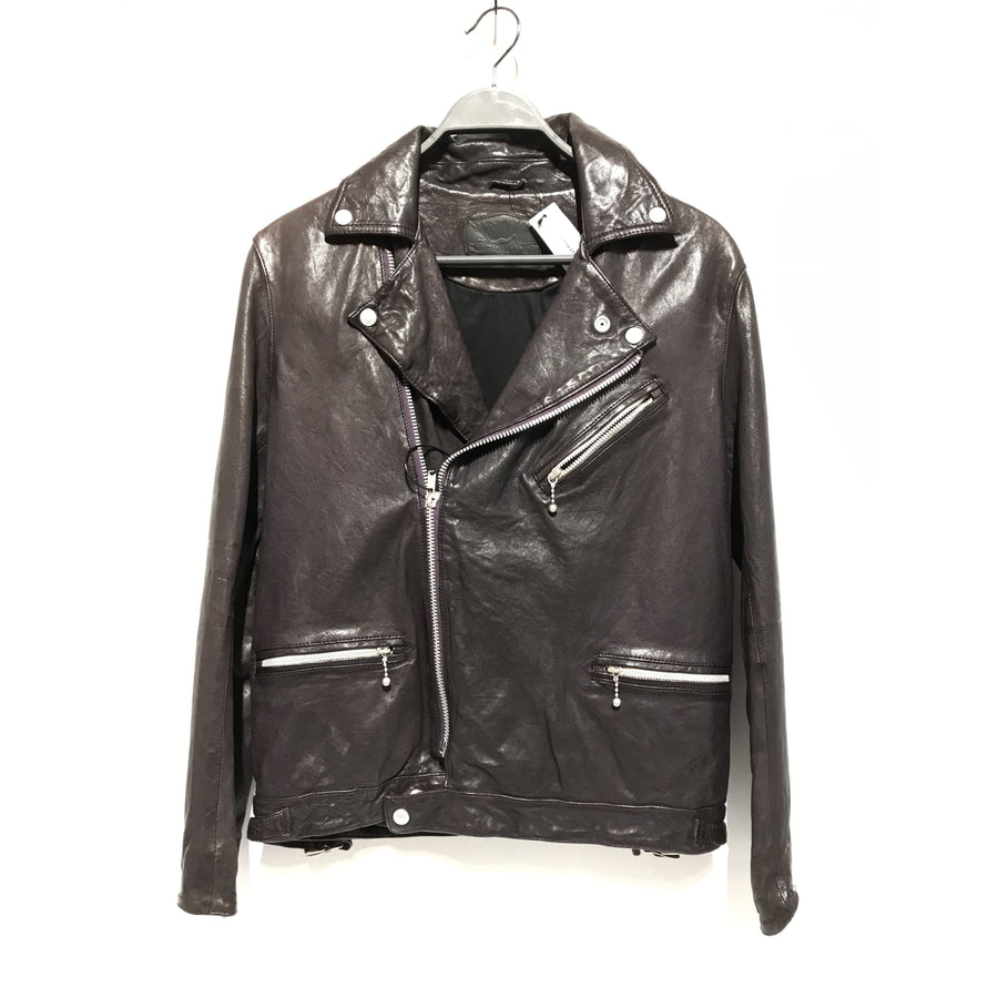HYSTERIC GLAMOUR/Riders Jkt (W)/L/Leather/PUP