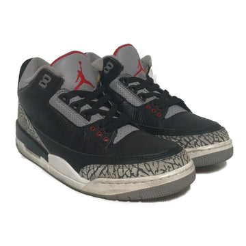 Jordan/AIR JORDAN 3 RETRO BLACK CEMENT/High-Sneakers/US10/BLK/Others/Plain