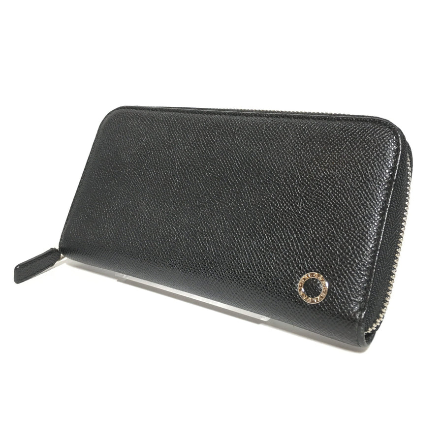 BVLGARI/Long Wallet/Leather/BLK