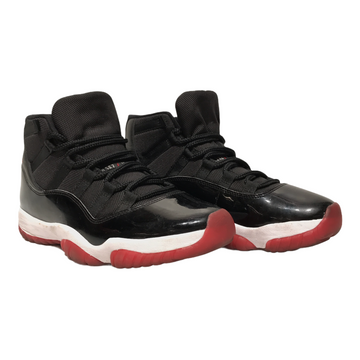 Jordan/JORDAN 11 PLAYOFFS BRED/Hi-Sneakers/8.5/BLK/Cotton/Plain