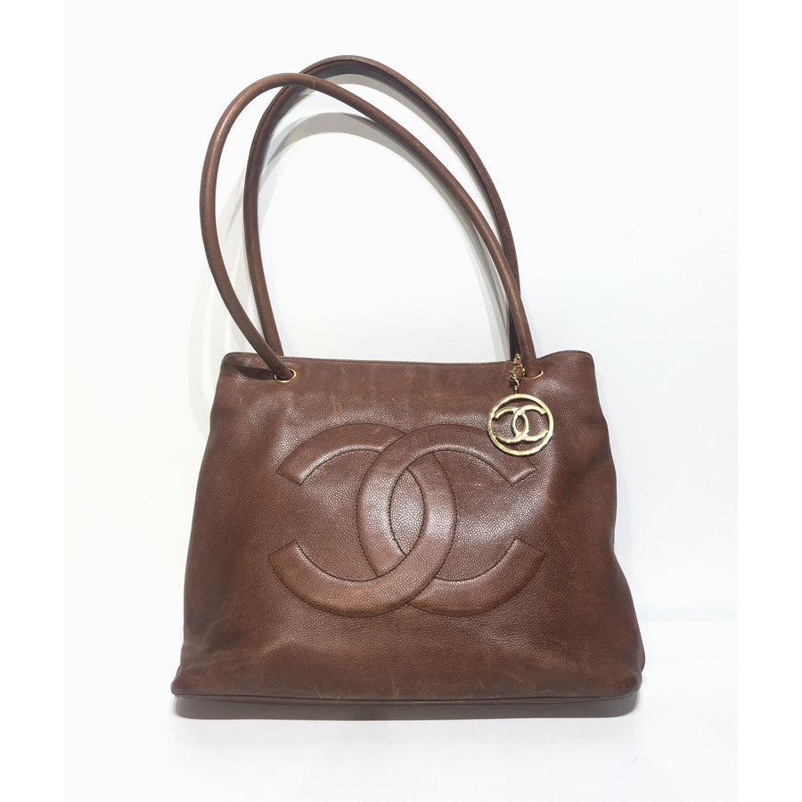 CHANEL/Tote Bag/Leather/BRW