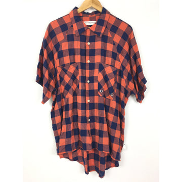 MR Completely/L/Flannel Shirt/ORN/Cotton/Plaid