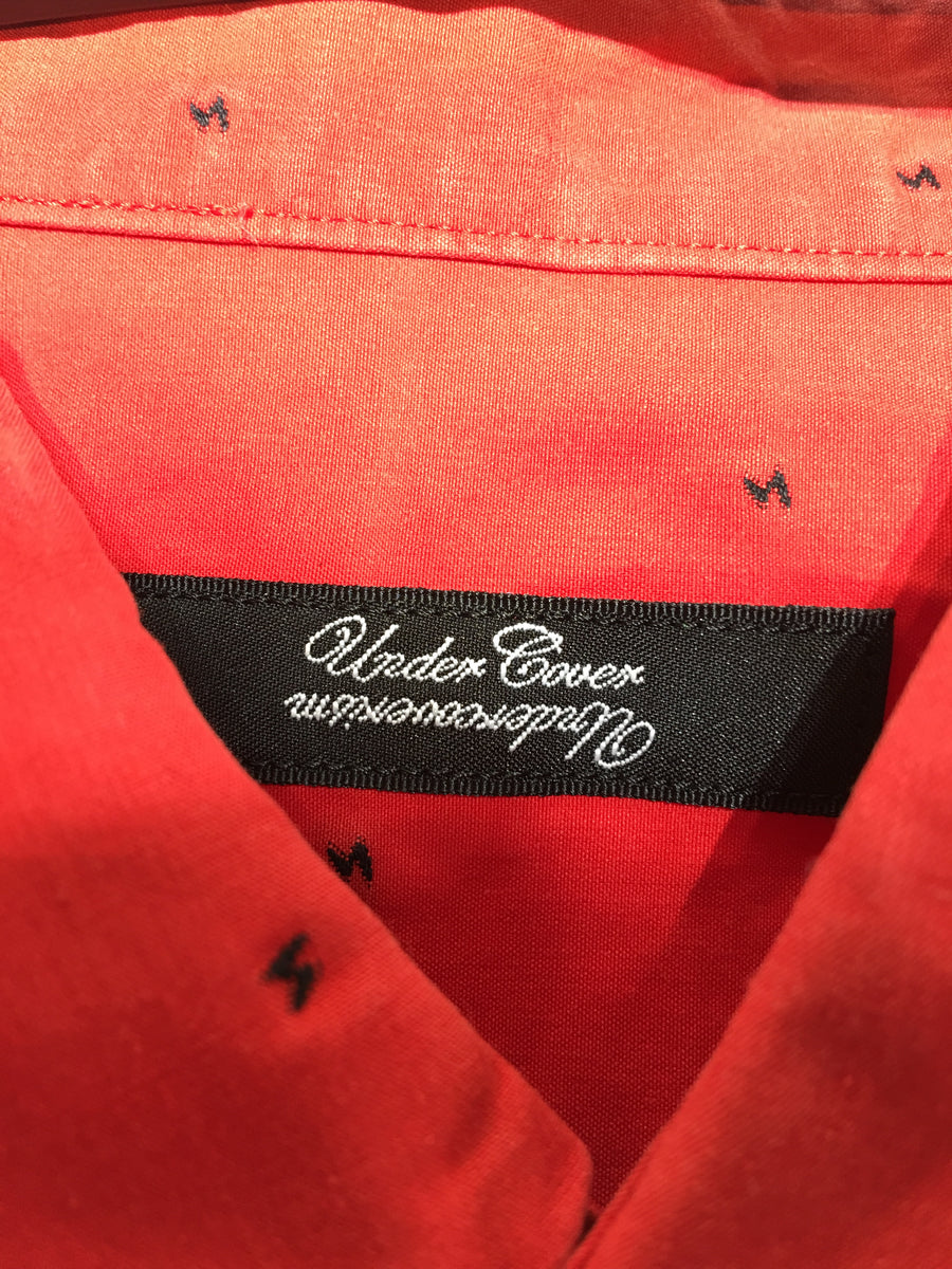 UNDERCOVER ism/2/LS Shirt/RED/Cotton/All Over Print
