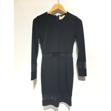 Alice and Olivia/2/LS Dress/BLK/Rayon/Plain