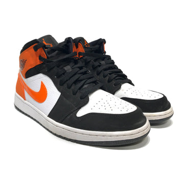 Jordan/1 MID SHATTERED BACKBOARD/Hi-Sneakers/US12/ORN/Others/Plain