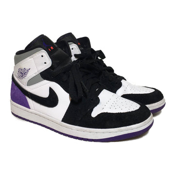 Jordan/PURPLE MID/Hi-Sneakers/8.5/MLT/Leather/Border