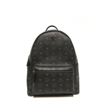 MCM//Backpack/BLK/Leather/Monogram