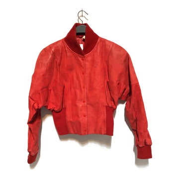 Wilsons Leather//Blouson/M/RED/Leather/All Over Print