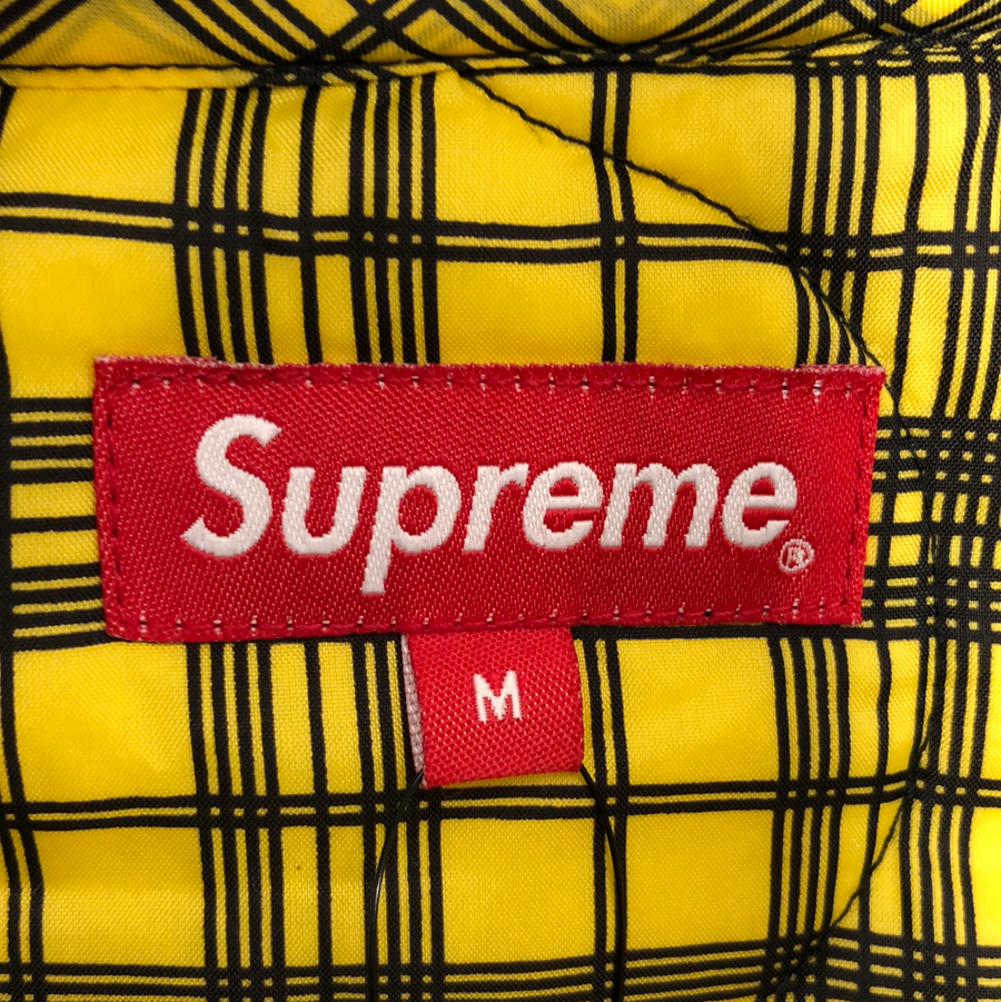 Supreme/17AW/Quilted Liner Hooded Jacket/M/nylon/YLW