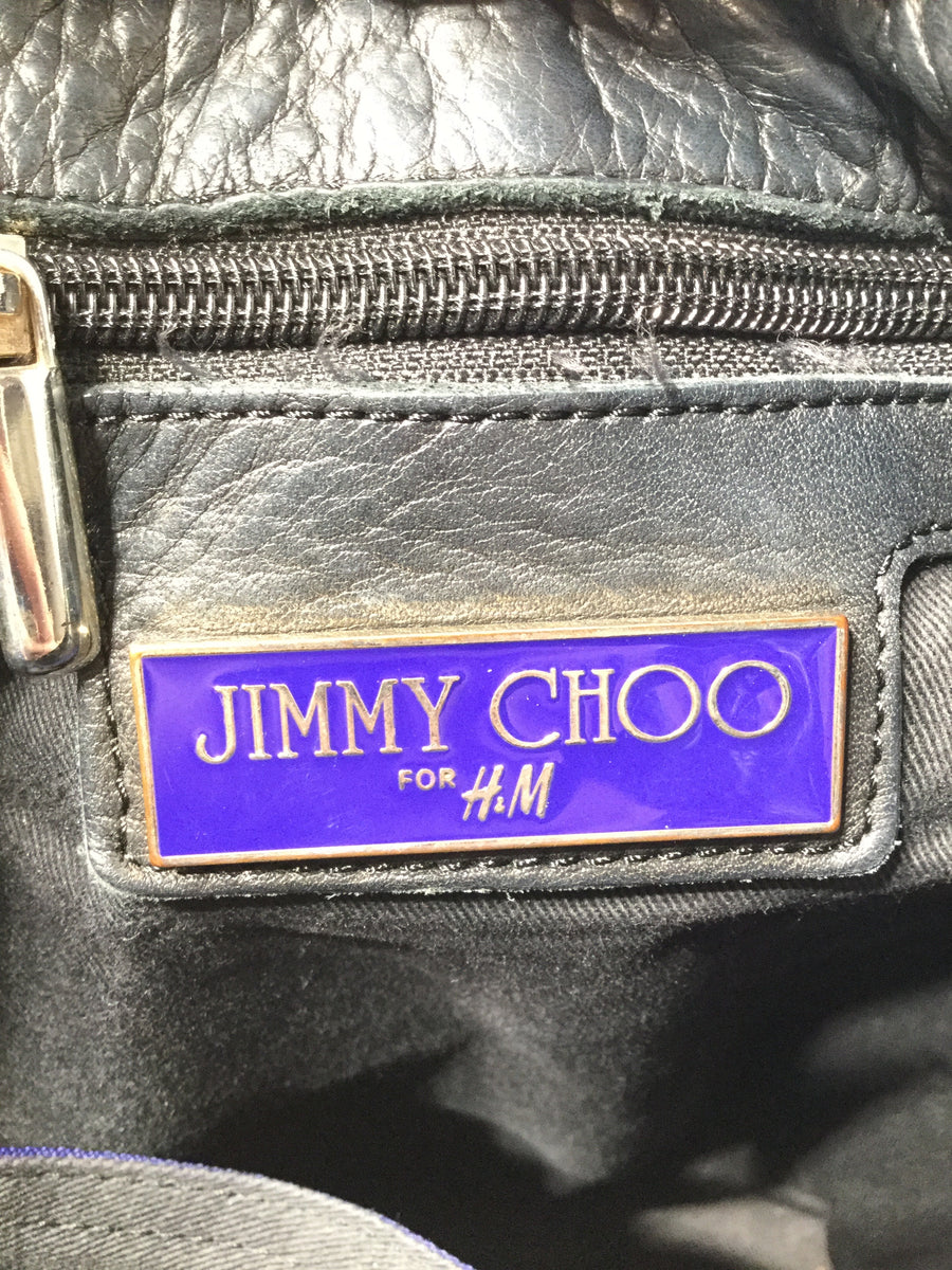JIMMY CHOO//Bag/BLK/Leather/Plain