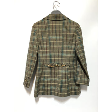 Vintage///Jacket/GRY/Polyester/Plaid