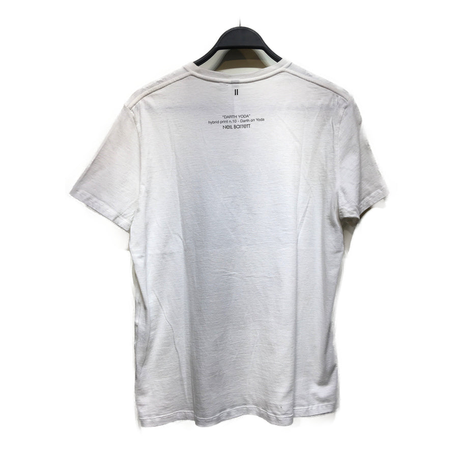 NEIL BARRETT///T-Shirt/WHT/Cotton/Graphic