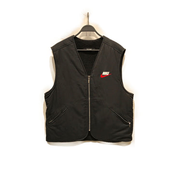 Supreme/NIKE COLLAB/Fleece Vest///BLK/Nylon/Plain