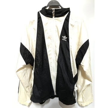 Adidas/L/Windbreaker/WHT/Nylon/Plain
