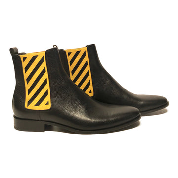 OFF-WHITE//Boots/EU43/BLK/Leather/Plain