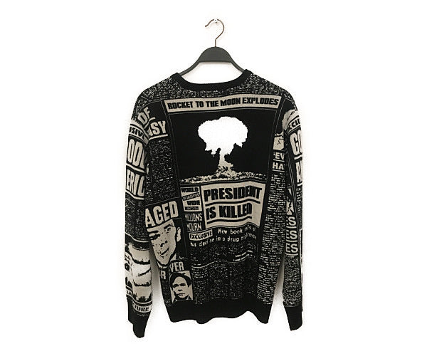 #Supreme/Sweater/L/Wool/GRY/All Over Print