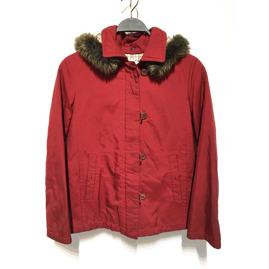 #BURBERRY BLUE LABEL/Jacket/38/Nylon/RED
