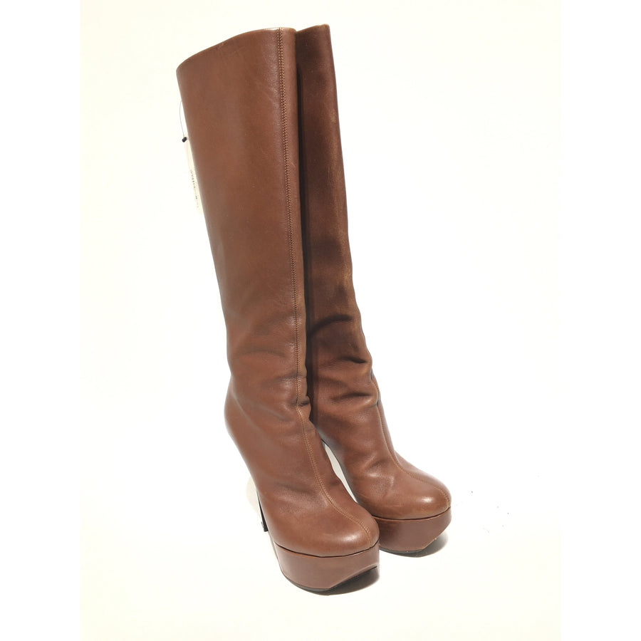 Giuseppe ZANOTTI/37.5/Long Boots/BRW/Leather/Plain