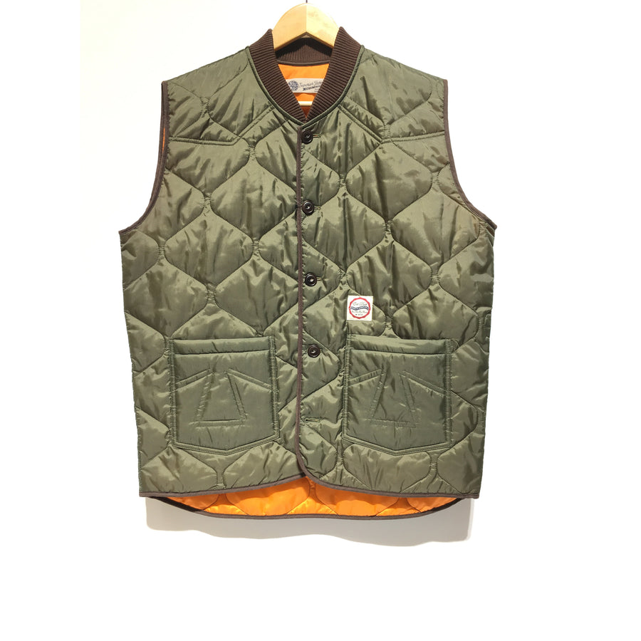 Superior Garments/XL/Quilted Vest/KHK/Nylon/Plain