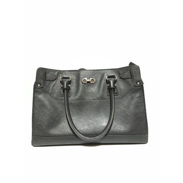 Salvatore Ferragamo//Hand Bag/BLK/Leather/Plain