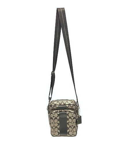 COACH//Cross Body Bag//BLK/Leather/Monogram