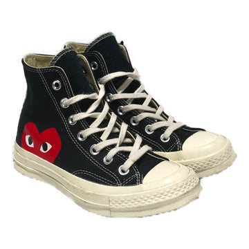 CONVERSE/X CDG PLAY/Hi-Sneakers/5/BLK/Cotton/Graphic