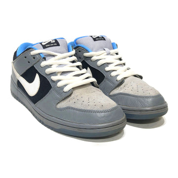NIKE SB/DUNK LOW PETOSKEY/Low-Sneakers/US10.5/GRY/Leather/Plain