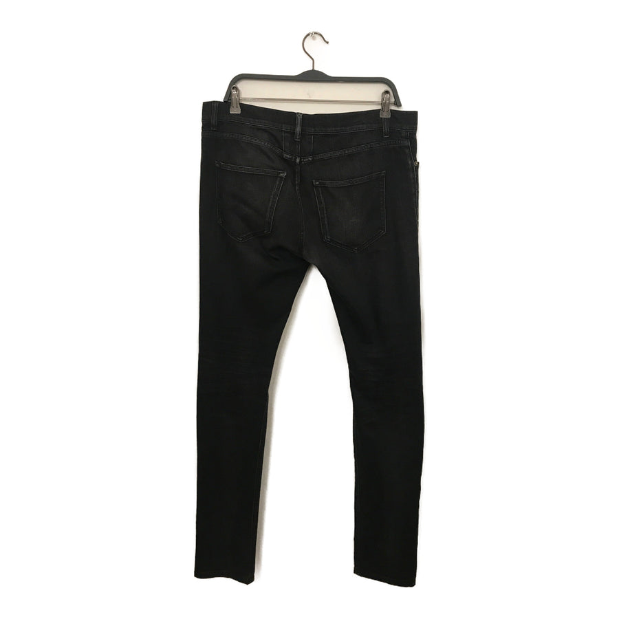 SAINT LAURENT//Skinny Pants/32/BLK/Cotton/Plain