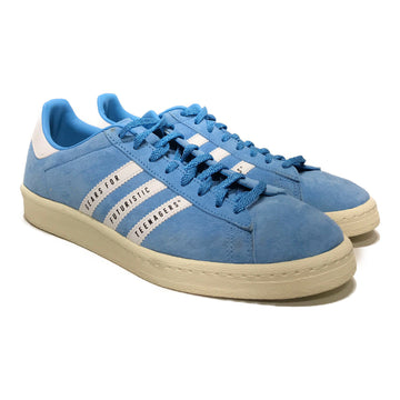 Adidas/X HUMAN MADE/Low-Sneakers/US10/BLU/Suede/Plain