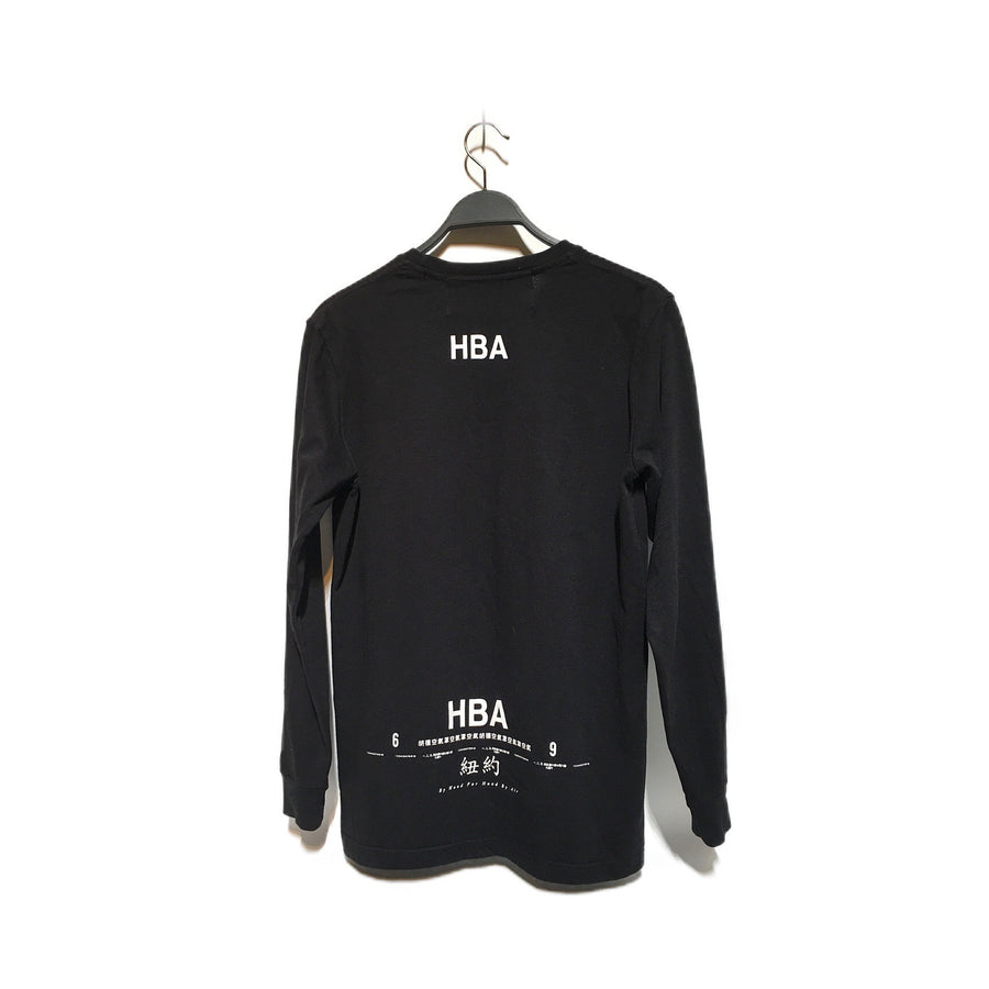 HOOD BY AIR.//LS T-Shirt/S/BLK/Cotton/Plain