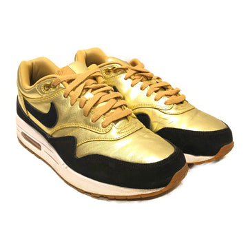 NIKE/AIR MAX 1/Low-Sneakers/US10.5/GLD/Others/Plain