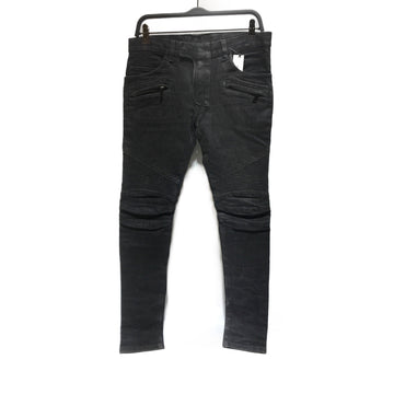 BALMAIN//Pants/30/BLK/Cotton/Plain