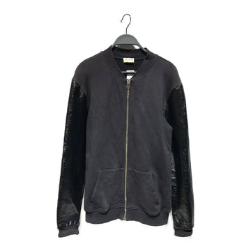 SAINT LAURENT/TEDDY BOMBER/Jacket/M/BLK/Wool/Plain