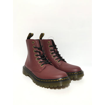 Dr.MARTENS/US6/Lace Up Boots/RED/Leather/Plain