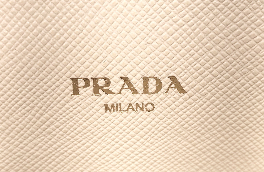 PRADA///Bag//WHT/Leather/Plain