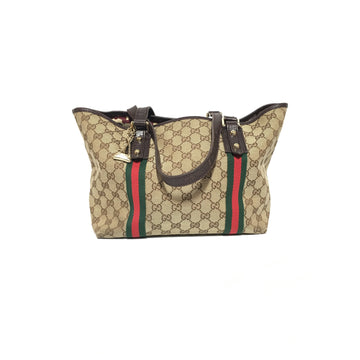GUCCI//Hand Bag/BEG/Cotton/Monogram