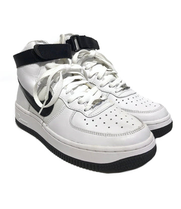 NIKE/AIR FORCE 1/Hi-Sneakers/5.5/WHT/Leather/Plain