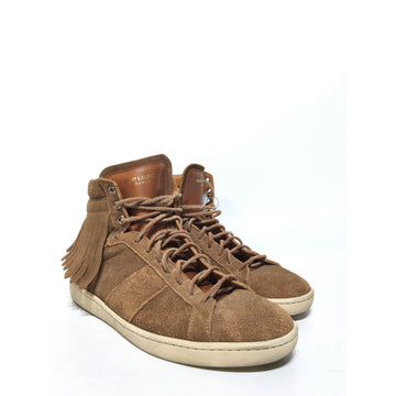 SAINT LAURENT/41/Hi-Sneakers/BRW/Suede/Plain